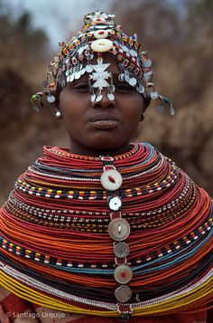 Africa | Samburu woman.  Kenya | ©Santiago Urquijo, via flickr
