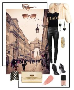 """""""Ciao Bella"""" by varnese ❤ liked on Polyvore featuring City Streets, Alexander Wang, Givenchy, Moschino, Fabi, Burberry, Jimmy Choo, Christian Louboutin, NARS Cosmetics and Tory Burch"""