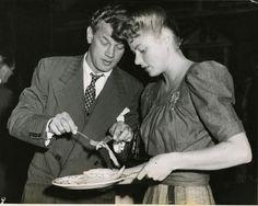 Joseph Cotton and Ingrid Bergman- he plays the hero in Gaslight