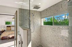 Walk in Shower Designs (Ultimate Guide) - Designing Idea Vented Gas Fireplace, Gas Fireplace Logs, Bathroom Tub Shower, Shower Doors, Large Bathrooms, Small Bathroom, Bathroom Ideas, Bathroom Designs, Shower Ideas
