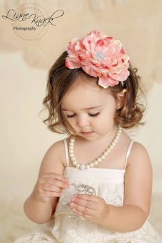 Peach Pink Coral Lace Flower Headband Peony Rhinestone Lacey Vintage Shabby Chic Ivory Band Toddlers Girls Hair Bow Photography Prop