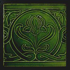 Le Glaive - Art Nouveau Tile