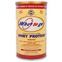 Мне понравился этот товар с iHerb.com Solgar, Whey To Go, сывороточный белок, с натуральным шоколадным вкусом, 16 унций (454 г) порошка