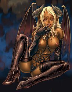 Demons with girls Naked sex having