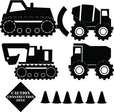 Construction Truck wall decals - available in different colors!