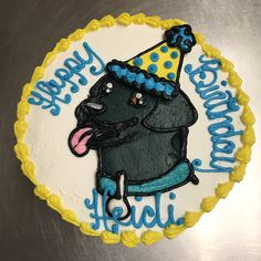Black Lab Cake Animal Cakes, Lab, Birthday Cake, Sweets, Desserts, Food, Sweet Pastries, Birthday Cakes, Meal