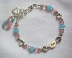 """SIDS and Babyloss Awareness """"Son"""" Tribute bracelet."""