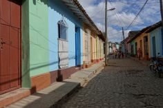 Coloured houses in Trinidad #Trinidad #Cuba