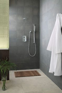 The ultimate shower design using TOTO products. Bathroom Goals, Shower Systems, Bathroom Renos, Rain Shower, Shower Faucet, Shower Heads, Bathtub, Showers, Home