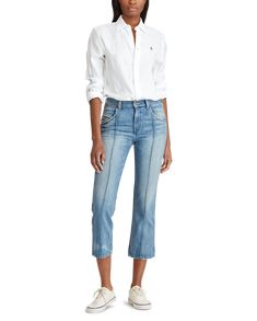 produt-image-2.0 Ralph Lauren Womens Clothing, Fifth Business, Cropped Jeans, Timeless Fashion, New Product, Shirt Blouses, Polo Ralph Lauren, Button Down Shirt, Clothes For Women