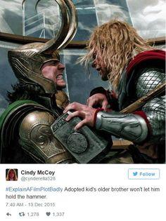 Photo of Loki&Thor for fans of Loki (Thor 32556569 Loki Avengers, Loki Thor, Loki Laufeyson, Tom Hiddleston Loki, Marvel Villains, Marvel Movies, Marvel Comic Universe, Marvel Dc Comics, Explain A Film Plot Badly