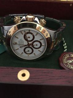 Rolex Cosmograph Daytona Steel 18K Yellow Gold White Dial Watch 16523 | eBay