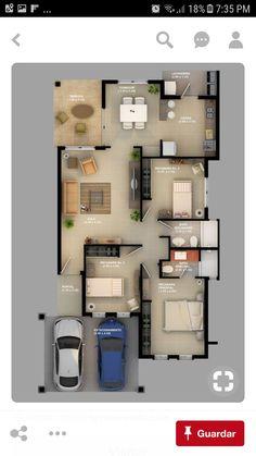26 ideas bedroom design layout floor plans dream homes 2 Bedroom House Plans, Dream House Plans, Small House Plans, House Floor Plans, Home Building Design, Home Design Plans, Building A House, House Layout Plans, House Layouts