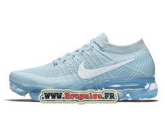 Nike Wmns Air VaporMax Officiel - Chaussure de Running Nike Pas Cher Pour Femme/Enfant Bleu glacier/Platine pur/Blanc 849557-404