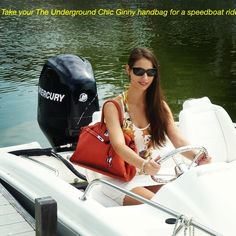 #chicunderground #ginny #orange #handbag #bag #eco-friendly #recycled #plastic #bottles #fashion #beauty #speedboat #boat #speed #summer #beach #vacation #water #sea #ride #birkin #hermes #style #vegan