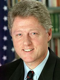 """William Jefferson """"Bill"""" Clinton is an American politician who served from 1993 to 2001 as the 42nd President of the United States. Inaugurated at age 46, he was the third-youngest president."""
