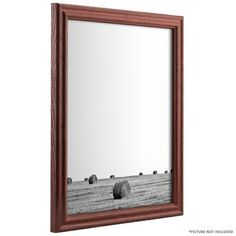 "Alcott Hill 0.75"" Wide Wood Grain Picture Frame Color: Black, Size: 12"" x 12"""