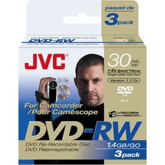 Jvc Vdw14Eu3 Mini Dvd-Rw 3-Pk by JVC. Save 40 Off!. $8.95. JVC is one of the world's leading developers and manufacturers of sophisticated audio, video and related software products. Building upon a wealth of technologies the company is moving decisively to offer appropriate solutions for the multimedia age. To remain at the forefront of the audiovisual industry in the 21st century, JVC is marshalling its resources to create the ultimate in appealing, cost-competitive products. These 8...