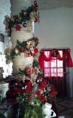 Pillar decorated - another angle