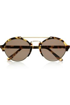 ILLESTEVA Milan II aviator-style acetate and metal sunglasses $300