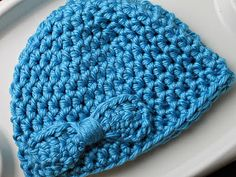 Free bow beanie pattern