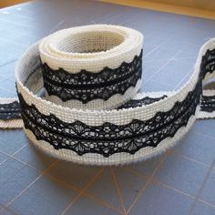 Ebony and Ivory  1.5 inch x 3 yards by HouseofBurlap on Etsy