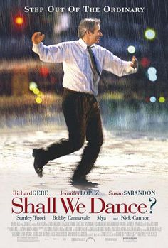 """""""Shall We Dance?"""" directed by Peter Chelsom, starring Richard Gere, Jennifer Lopez, Susan Sarandon Film Musical, Film Music Books, Music Tv, Film Movie, Dance Music, Stanley Tucci, Great Films, Good Movies, Famous Movies"""