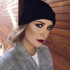 Glowing ☀️ @kristinaxmakeup  Starlight Illuminator Vamp liquid lipstick  #anastasiabeverlyhills #abhilluminator