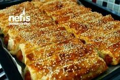 Bleached Soda Borek with Potato - Aparatif - Turkish Turkish Recipes, Asian Recipes, Ethnic Recipes, Pastry Recipes, Cooking Recipes, Turkish Sweets, Savory Pastry, Oven Dishes, Fresh Fruits And Vegetables