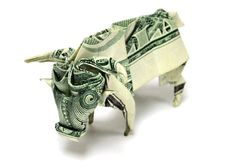 Buffalo origami with money - http://www.ikuzoorigami.com/buffalo-origami-with-money/