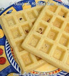 O Diário de Receitas Sem Lactose: Waffle Doce e Salgado Sem Glúten e Sem Leite Lactose Free Dinners, Dairy Free Snacks, Lactose Free Diet, Lactose Free Recipes, Mexican Food Recipes, Sweet Recipes, Keto Waffle, Pancakes And Waffles, Menu