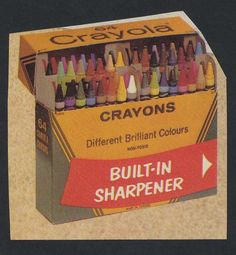 Oh the joy of owning the box of 64 crayons!!! Got a fresh box every Christmas in my stocking.  I loved the smell of them!