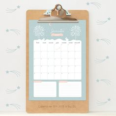 Free printable.  Beautiful French calendar from a talented French designer, zugalerie