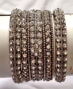 set of  9 stunning  indian bridal diamante  bangles *new latest design*