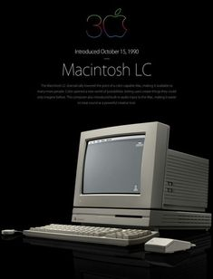 Stories of Apple on Tumblr — Apple's first Macintosh LC, with matching Apple...