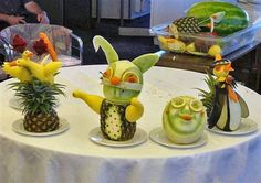 50 Artistic Sculpted Vegetables And Fruits Fruit Crafts, Edible Crafts, Food Crafts, Veggie Art, Fruit And Vegetable Carving, Vegetable Decoration, Food Decoration, Gourmet Food Plating, Fruit Creations