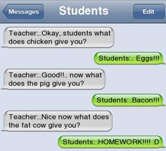 Funny text - Teacher - http://www.jokideo.com/