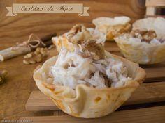 Cestitas de Apio Con crema agria y nueces