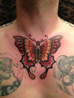 uhhhh, this is my friend Nate lol Wolf Tattoos, Nature Tattoos, Chest Tattoo, I Tattoo, Luna Moth Tattoo, Eclipse Tattoo, Art Nouveau Tattoo, Skin Art, Tatting
