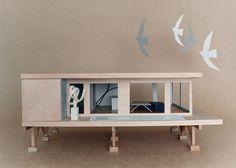If It's Hip, It's Here: Bauhaus Mini-modernist Doll Houses Promote Karen Walker Paints For Resene Modern Crib, Mid-century Modern, Bauhaus, Mid Century Exterior, Paint Companies, Modern Dollhouse, Play Houses, Doll Houses, Paint Schemes