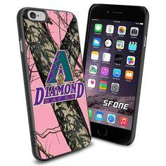 Arizona Diamondbacks MLB PinkCamo Logo WADE6249 Baseball iPhone 6 4.7 inch Case Protection Black Rubber Cover Protector WADE CASE http://www.amazon.com/dp/B013Z2UVIK/ref=cm_sw_r_pi_dp_zwlnwb1GW0TE9