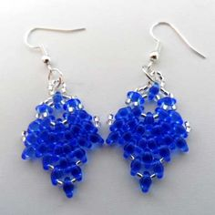 Tuesday 20th October 2015  Superduo Earrings Workshop for Beginners, 1.30-3.30.