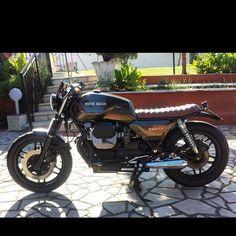 #1987 #motoguzzi #850 #t5 #brat #bratstyle #pornbikes #monster #motorcycles #garage #garageIife #garagebuilt #ride #riders #rideordie #ridefreefeelgood #instabike #instaride #custom #custombikes #custommotorcycles #bikelife #bikers_lifestyle