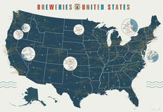 Infographic: A Map Of America's 1,000 Breweries
