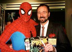 In honor of IAAPA going on right now, here's a #tbt of our CEO Tony Christopher at IAAPA showcasing The Amazing Adventures of Spiderman with web slinger himself!