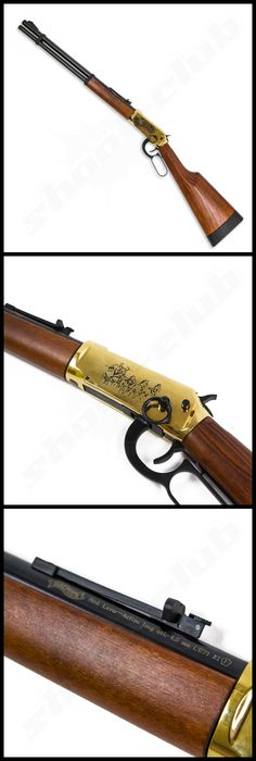 Walther Lever Action Wells Fargo long CO2-Gewehr  in Gold-Optik im Kaliber 4,5mm - Diabolo