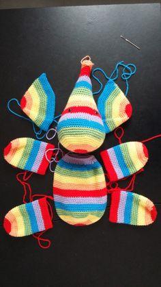 Best 12 Crochet Elephant (etsy) – if only I knew how to crochet! Crochet Diy, Crochet Amigurumi, Crochet Motifs, Crochet Crafts, Crochet Animal Patterns, Stuffed Animal Patterns, Crochet Animals, Amigurumi Elephant, Crochet Elephant