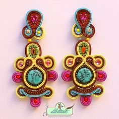 One of a kind Soutache Earrings by DILETTANTEsoutache.deviantart.com