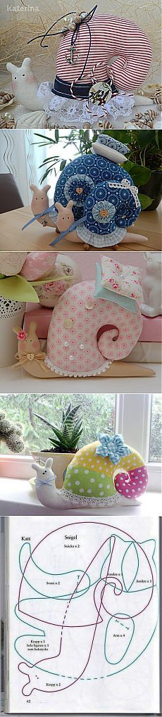 How to Make Cute Fabric Snail Pillow | www.FabArtDIY.com