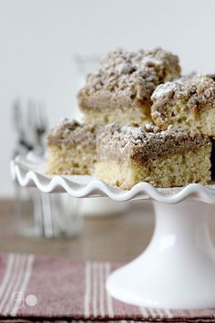 The Best NY Crumb Cake Ever- when the crumb topping layer is just as thick as the cake layer, you know you're in for something good.